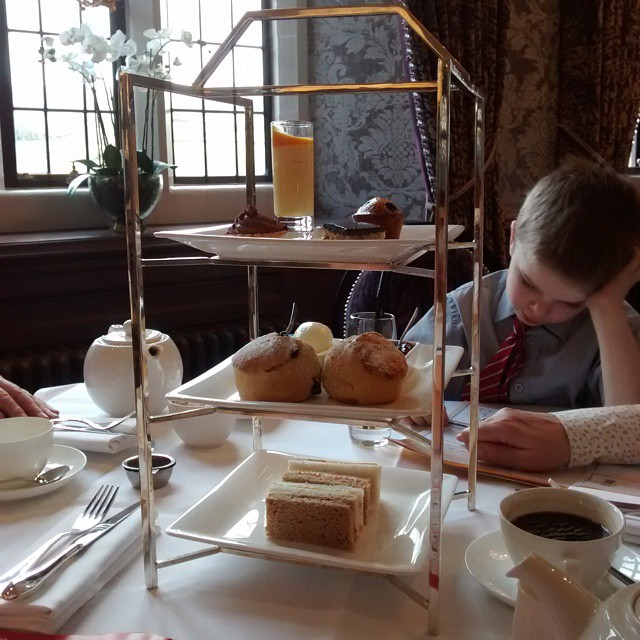 Tea at BoveyCastle Devon Hotel