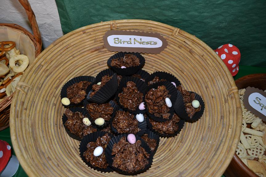 Enchanted Forest Party Food - Bird Nests