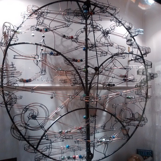 Mechanical marble run at the houseofmarbles in boveytracey devon