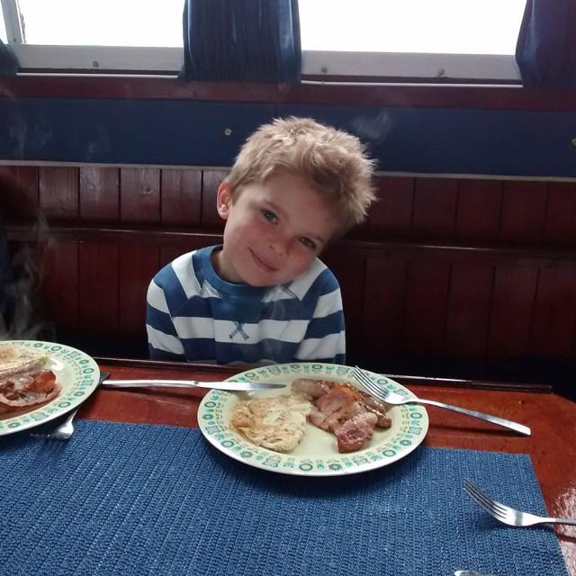 Morning boaters! Breakfast BreakfastTime boating boatingwithkids BankHoliday