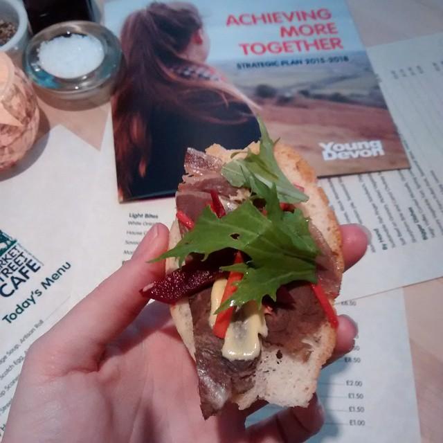 Gorgeous food at the new marketstreetcafe in NewtonAbbot Devon RiverCottage