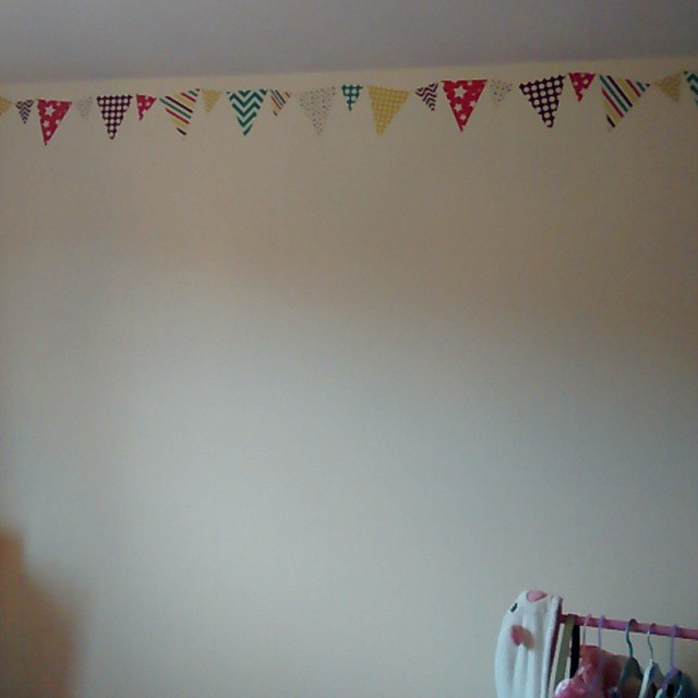 Happy with the new bunting stickers in Lj's room from…