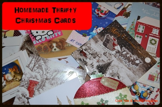 Homemade Thrifty Christmas Cards