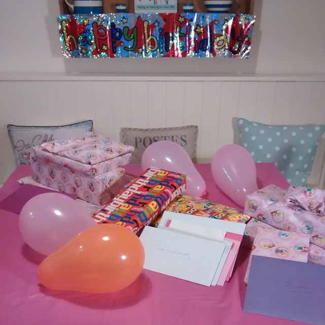 All set up and ready for the birthday girl in the morning :)
