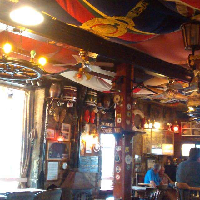 In one of the most decorated pubs i've ever seen! #islesofscilly