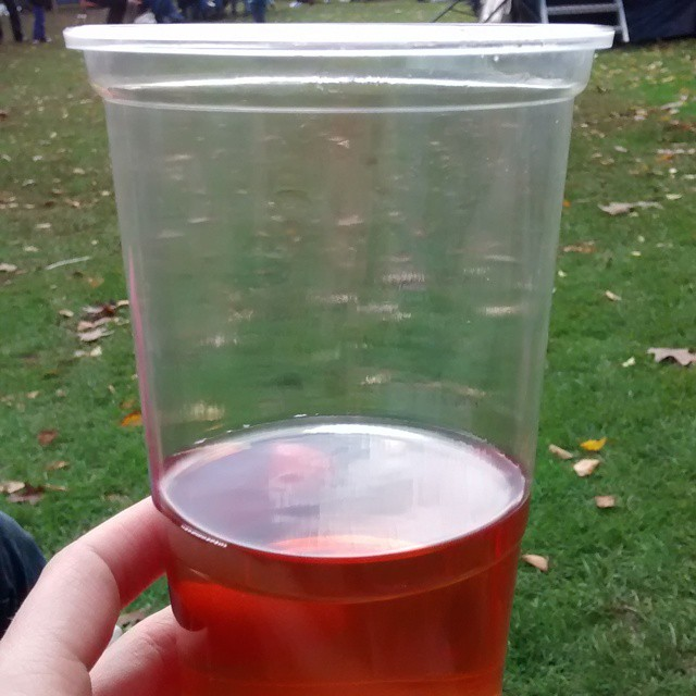 Yummy strawberry cider at #cockington apple day
