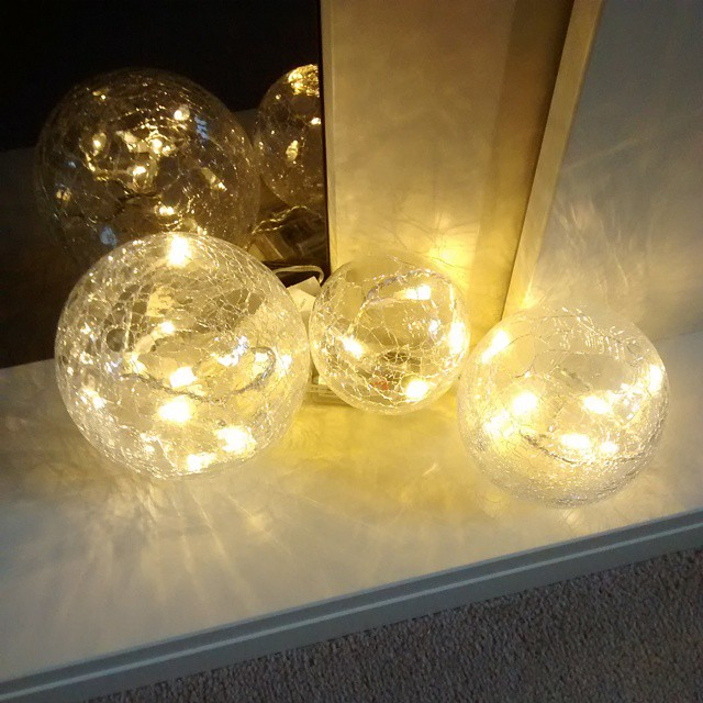 Another opinion needed on my new light up globes. Yay or nay? #HomeDecor #homedecorating