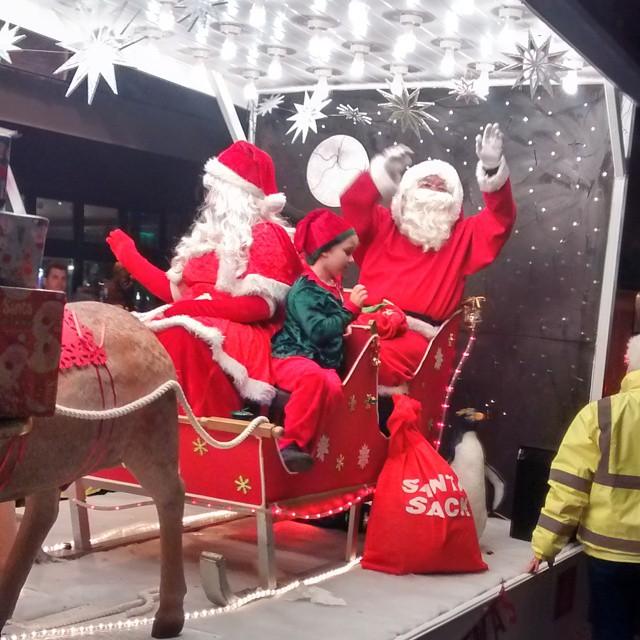 Look who we meet tonight at #NewtonAbbot Christmas light switch on #devon
