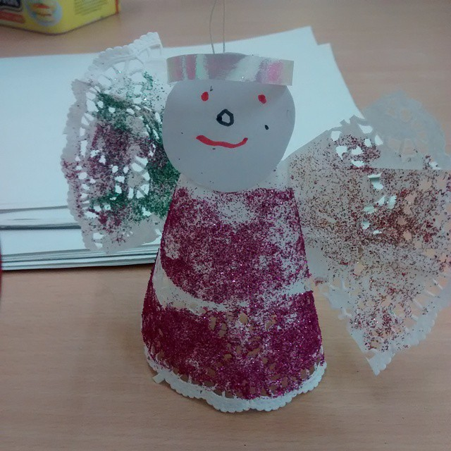Making angels at toddlers today :)
