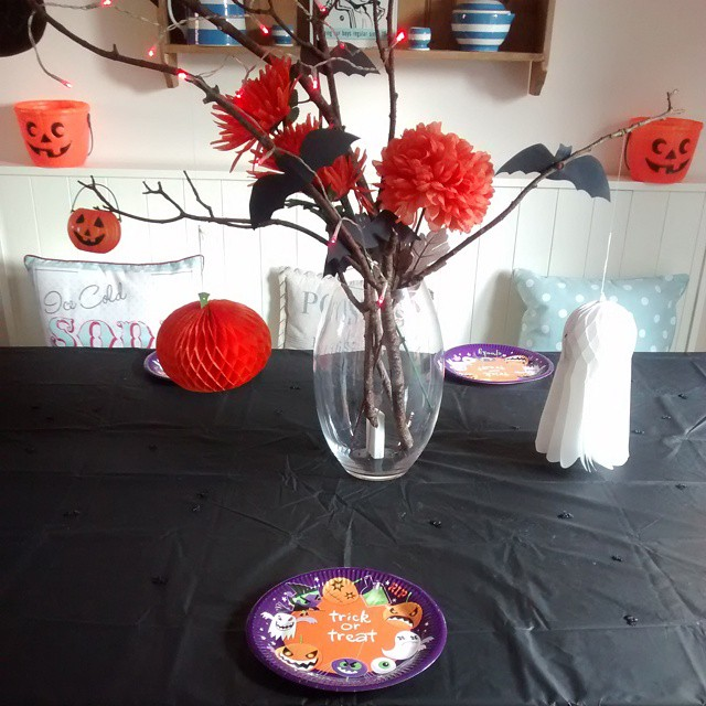 All set up ready for #Halloween party tea :)