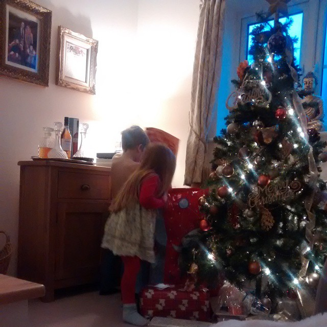 Kiddies are getting excited about the build up of presents that keep appearing under the tree!