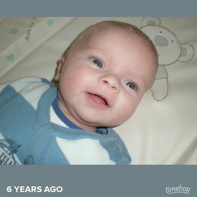 Exactly 6 years ago today. Baby H
