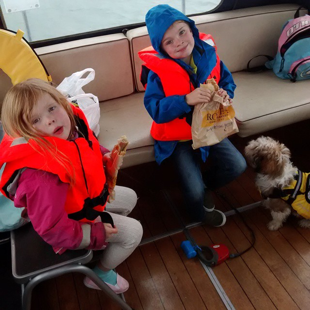 Pasty break on the boat boatingwithkids boatingwithdogs