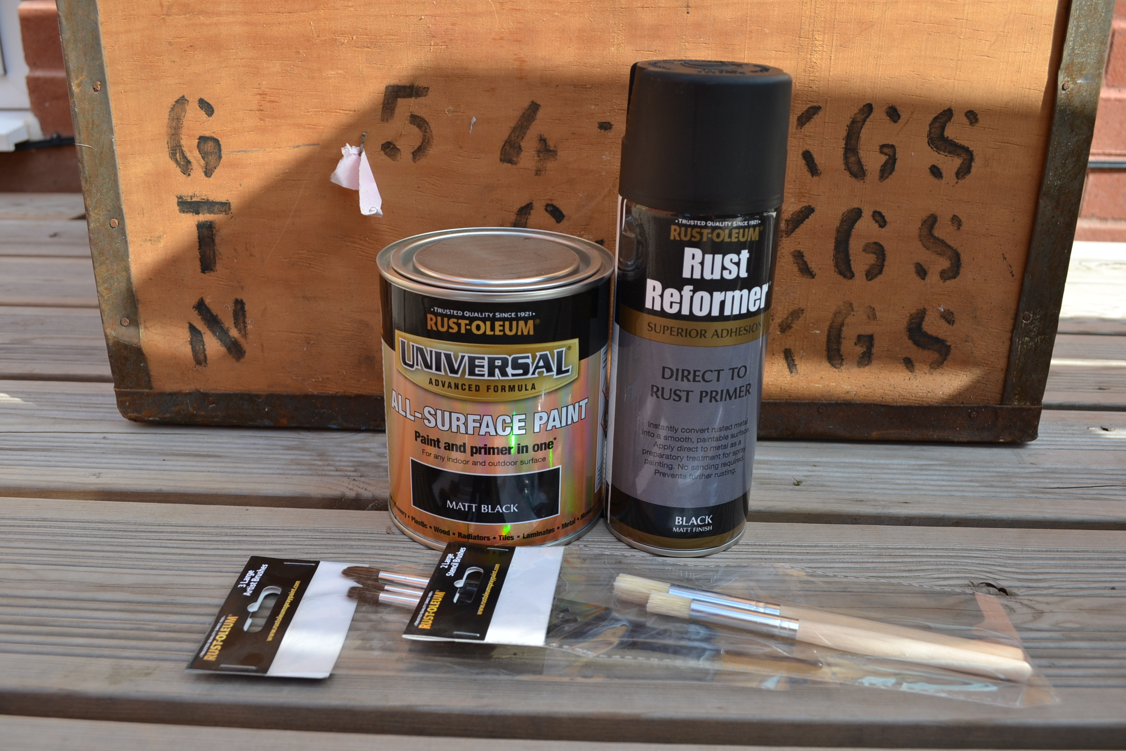 Up-cycling an old tea chest