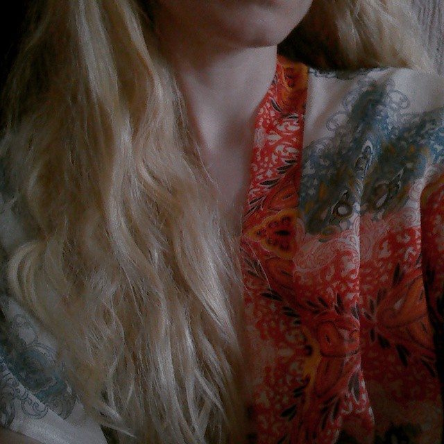 Love my boho kimono.
